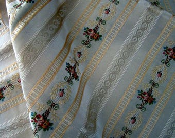 French vintage fabric silk cotton jacquard