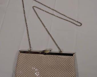 Vintage Whitting and Davis Mesh Clutch Handbag