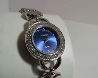 Absolute ladies watch blue face