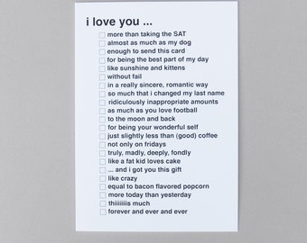 Check It Card - I Love you ...