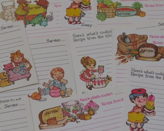 Cute 80's Collection ~ Current Recipe Cards x10 ~ Kisten Howe