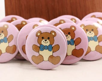 "Vintage Package of 24 Hallmark Teddy Bear 1 1/2"" Pins."