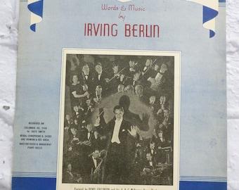 Vintage Sheet Music Irving Berlin A Little Old Church in England Lyrics,  Copyright 1941 Dance Music, Music Ephemera, Ephemera