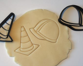 Hard Hat and Construction Cone Cookie Cutter Set