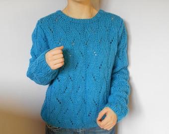 majority petrol blue wool sweater.