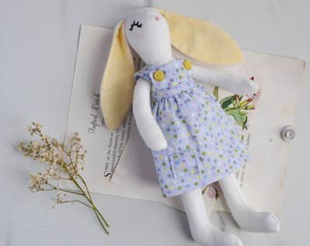Little Blossom Bunny Heirloom Animal Doll