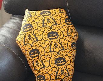Halloween Pumpkin Coffin Pillow