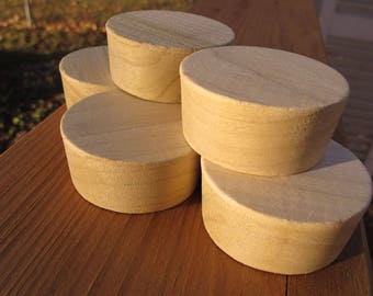 Five (5) Poplar Whiskey Barrel Bungs