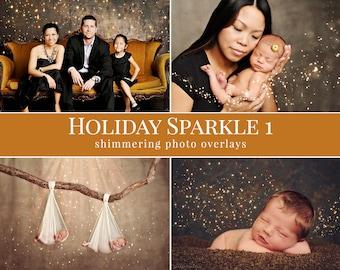 "Christmas photo overlays ""Holiday Sparkle 1"", christmas photo overlays for Photoshop, photo overlays for Photographers"
