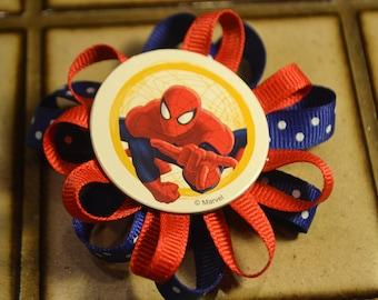 Spiderman Hair barrette/ clip girls like spiderman too...