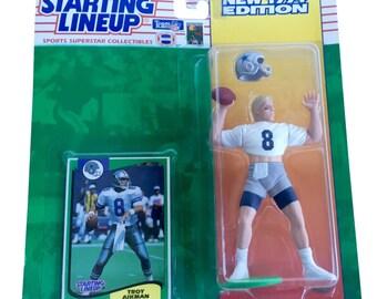 NFL Starting Lineup SLU Troy Aikman Action Figure Dallas Cowboys 1994 Kenner