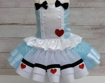 Alice In Wonderland Dress, Alice In Wonderland Outfit, Alice Costume, Onederland Outfit, Alice Dress, Alice Tutu Outfit, Tea Party Dress