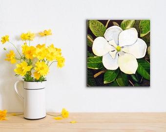 Midnight Blossom Original Oil Painting
