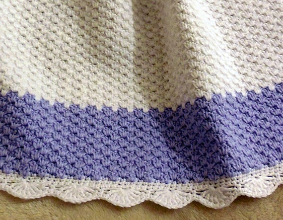 CROCHET Pattern - Baby Blanket / Afghan - Winter Frost - Fast and ...