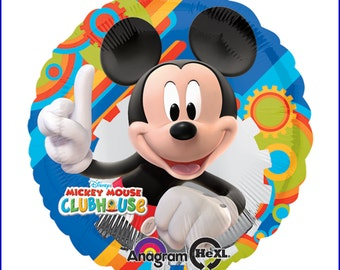 Mickey Mouse (Blue) 6-pc Balloon Bouquet (Foil/Latex) Combo