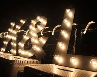 Marquee Letter lighted Industrial letters Flat style