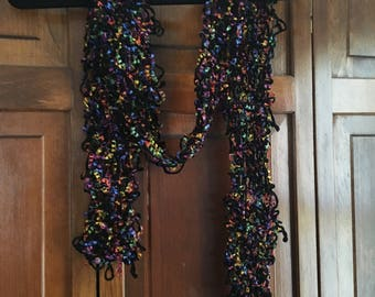 Black with rainbow accent scarf
