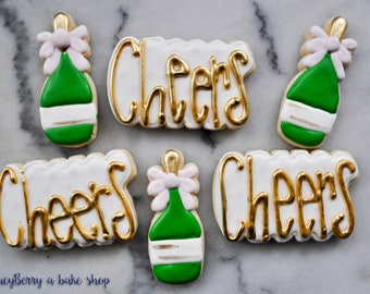 Cheers and Champagne Sugar Cookies