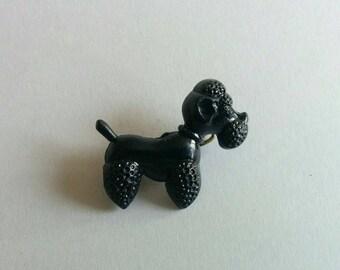 Poodle // Dog. Vintage brooch.