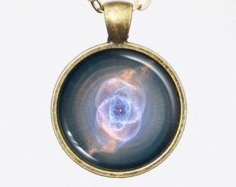 Nebula Image Necklace - Fantasy Cat's Eye Nebula Necklace - Galaxy Series (G021)