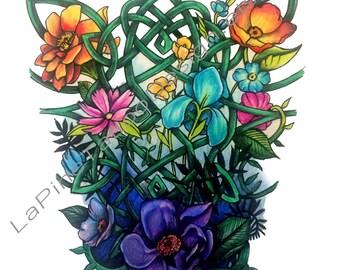 Celtic Floral ~ Tattoo Design