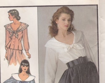 1980's Sewing Pattern - Style 1374 Misses set of Blouses Size 6-12