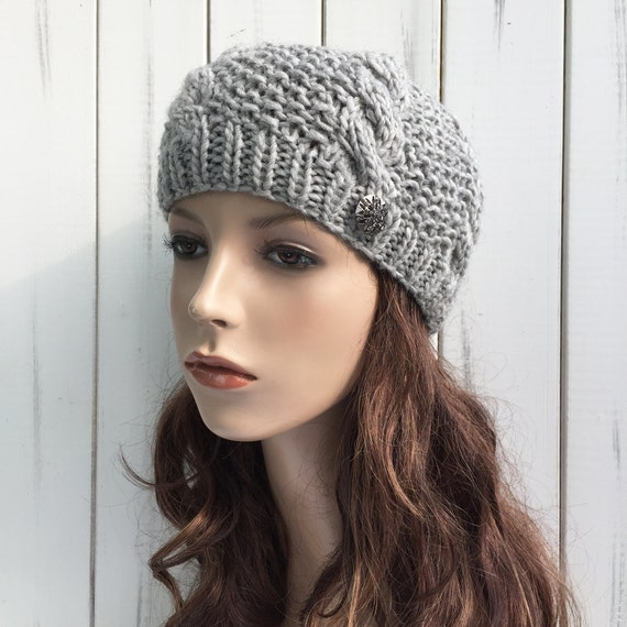 la main tricot femme hiver chapeau laine chapeau b ret chapeau. Black Bedroom Furniture Sets. Home Design Ideas