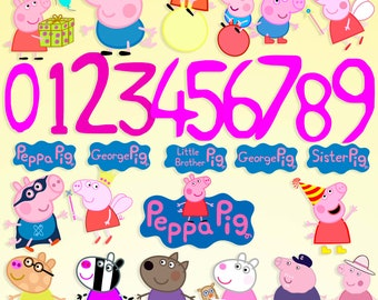 Peppa Pig svg George Peppa Pig clipart Peppa Pig party Peppa Pig birthday Peppa Pig printable Peppa Pig digital George Pig svg