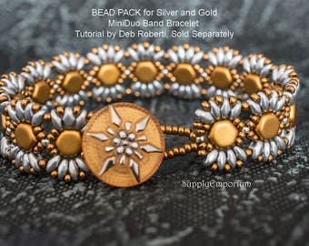 Bead Pack BB66 for Silver and Gold MiniDuo Bands Bracelet, Tutorial by Deborah Roberti Sold Separately