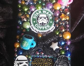 Star Wars Starbucks iPhone Case Note 5 6 7 8 9 x  Note Edge Coffee Plus Moto Lg Galaxy