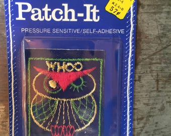 Vintage Patch-It Sewing Patch Owl Whoo