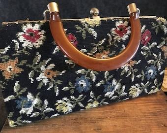 Vintage carpet bag purse