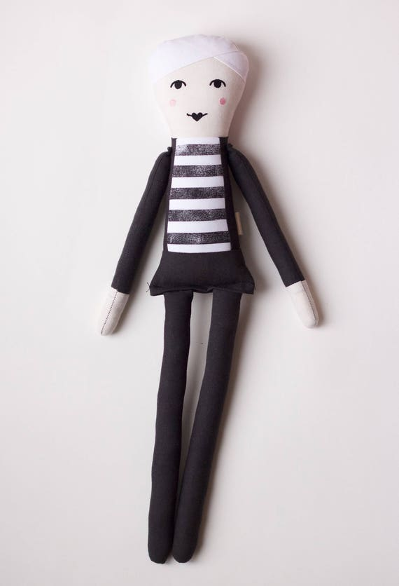 Pop Art Artist Andy Warhol Cloth Doll: handmade with organic cotton