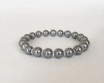 Light Gray Pearl Bracelet
