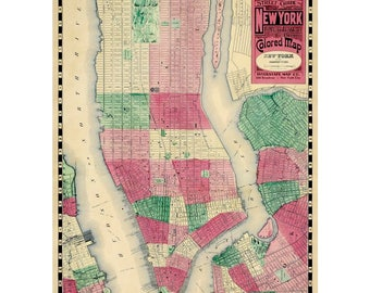 Vintage New York Street Map Wrapping Paper by Cavallini to Frame or Wrap, Book Binding, Collage, Scrapbook, Paper Arts PSS 3505