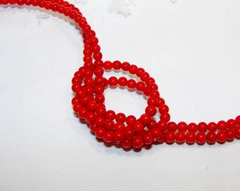 Set of 10 2 mm bamboo coral beads. (9088246)