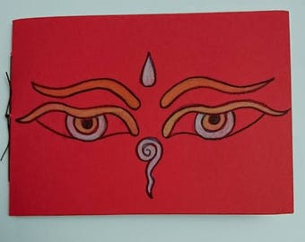 Buddha's Eyes notebook, red