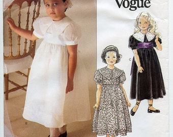 LIttle Vogue 1754 Uncut Strasburg Heirloom Collection Children's Dress Sewing Pattern Sizes 5-6-6X