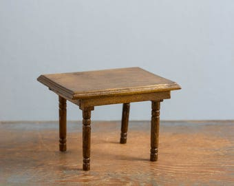 Wooden Table - 1:12 Scale Vintage Dollhouse Furniture