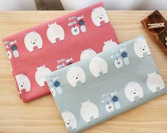 bear fabric/apple fabric bear fabric/baby bears fabric/nursery apple bear fabric cute bear fabric/bears cotton fabric apples/scandinavian