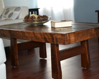 Reclaimed Wood Coffee Table  FREE Shipping