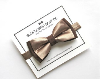 Gold Bow Tie - Boys Bow Tie - Men Bow Tie - Bow Ties for Boys - Wedding Bow Tie - Kids Bow Tie - Brown Bow Tie - Boys Bowtie