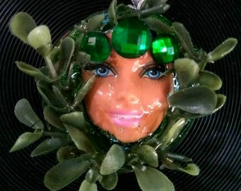 "Pagan "" Green Man"" Barbie pendant"