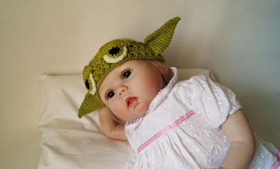 Newborn Yoda Headband Pattern Crochet Pdf Baby Star Wars