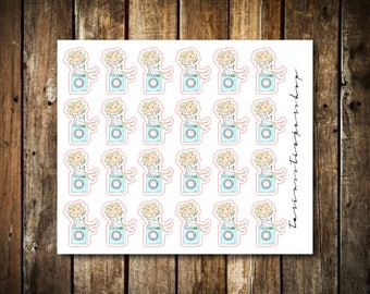 Laundry - Cute Blonde Girl - Functional Character Stickers