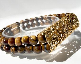 Classic Stretch Gold-tone Fitbit Flex Bracelet Semi-Precious Stone