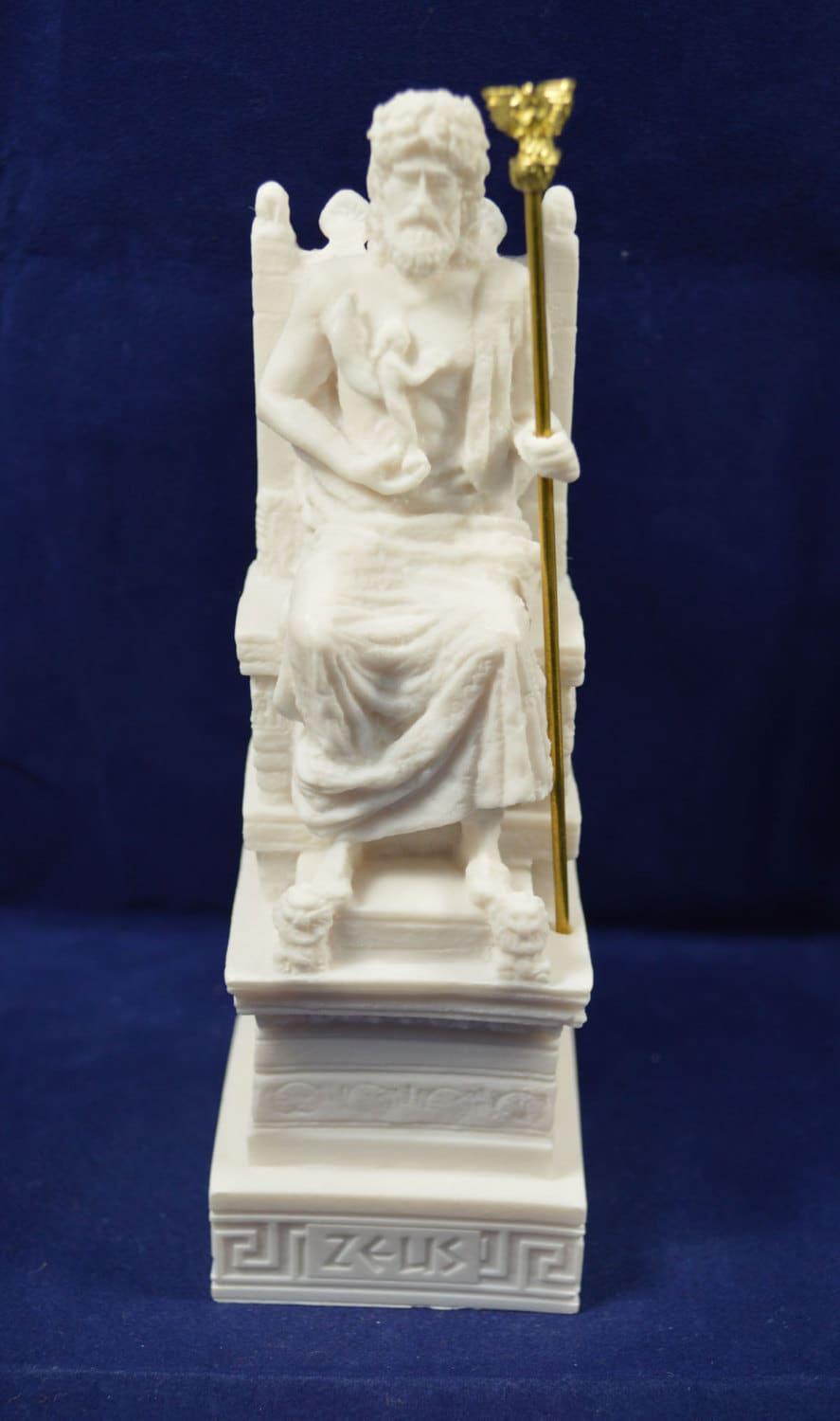 Zeus throne sculpture statue ancient Greek God king of all