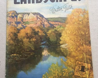 How to Draw and Paint Landscapes Published by Walter Foster - Art Instruction Book - Painting Instruction - c. 1960s Art - Mid Century Art