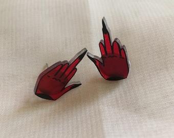 Angry Devil Earrings