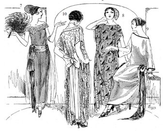 Flapper Dress Sewing Instructions-Two Seams and Two Hours- Ten Vintage Styles 1924 PDF